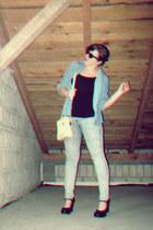 vintage heels - Topshop jeans