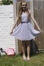Periwinkle-lace-h-m-dress-silver-h-m-flats