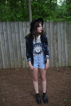 black booties Topshop boots - black fedora Urban Outfitters hat
