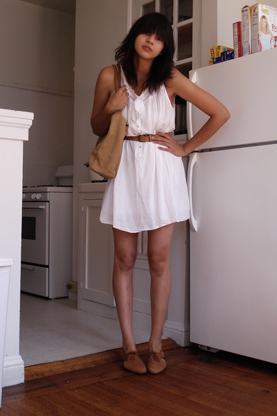 thrifted dress - thrifted shoes - thrifted belt - thrifted purse