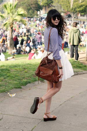 dark brown Rebecca Minkoff bag - tawny Pour La Victoire shoes