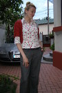 White-moms-vintage-shirt-tawny-handmade-cardigan-silver-earrings