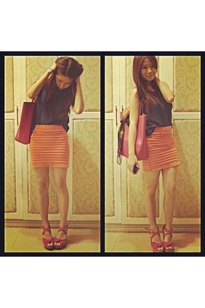 skirt - cinderella top - Gibi heels