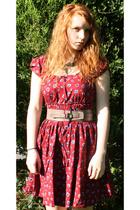 joe browns dress - county comforts via oxfam belt - Primark necklace