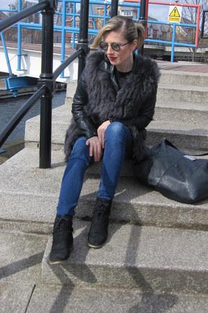 gray round romwe sunglasses - black black Topshop jacket