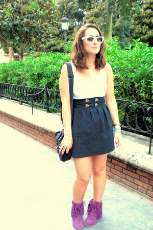 Zara shoes - skirt - hoss intropia purse - Ray Ban glasses