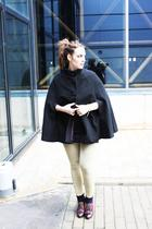 brown Bimba&Lola shoes - black H&M coat - H&M panties