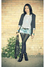 Black-f21-boots-white-h-m-shirt