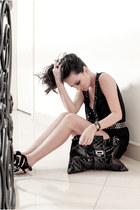 bag - blvgari bracelet - milk & honey romper - Siren heels - Fendi ring