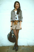 black Seduce boots - dark brown Newtown Markets jacket - black Gucci bag - tan K