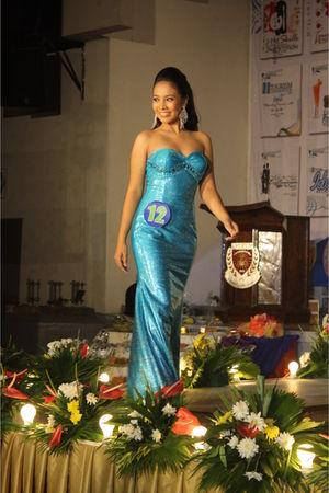 blue silk long gown dress