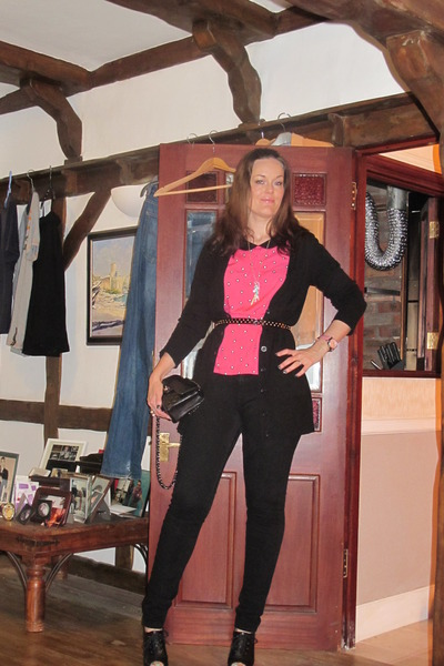 hot pink new look blouse