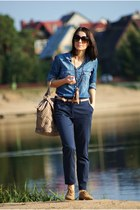 blue Stradivarius shirt - navy pimke panties