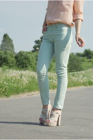 aquamarine Cubus pants - peach Cubus shirt