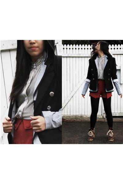black Chica Booti blazer - dark brown boots
