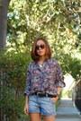 Madewell-shorts-wildfox-sunglasses-madewell-belt-zara-heels