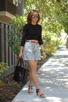 Helmut Lang bag - BDG shorts - chicnova sunglasses - Dolce Vita sandals