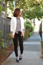 madewell shirt - nike shoes - Theory jacket - ray-ban sunglasses