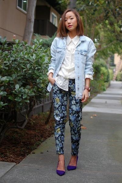 Zara jacket - H&M pants - Manolo Blahnik heels