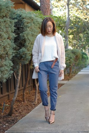 Line & Dot coat - Gap sweater - H&M pants - Zara heels