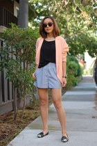 sam edelman shoes - H&M blazer - Kimchi Blue shorts - Topshop sunglasses
