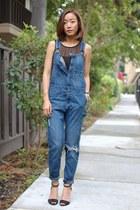 H&M jeans - three dots top - Zara heels