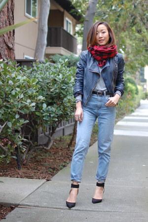 free people jacket - BDG jeans - Zara heels