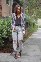 BDG jeans - Tibi top - Schutz heels