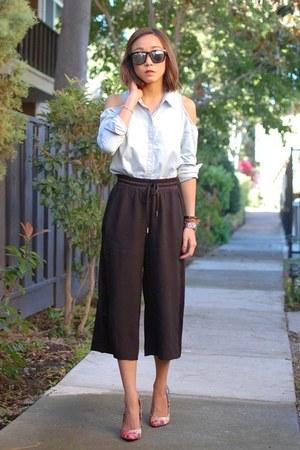 madewell shirt - Aldo heels - H&M pants