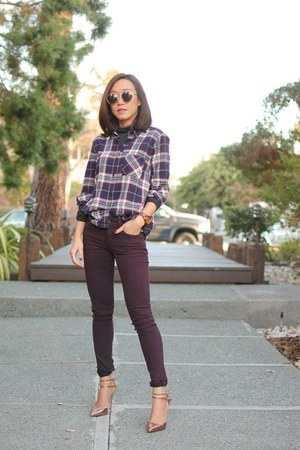 J Brand jeans - Current Elliott shirt - Zara heels
