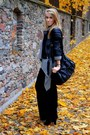 Gray-second-hand-sweater-black-cubus-jacket-black-second-hand-skirt