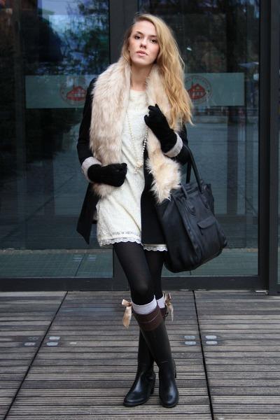 second hand coat - AX Paris dress