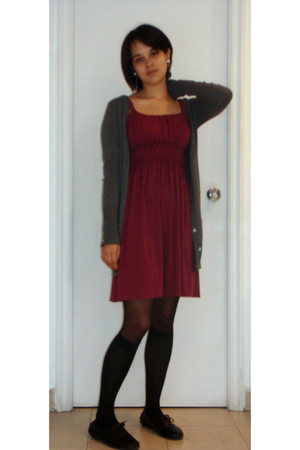Zara - dress - tights - socks - Primark shoes - earrings