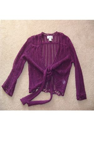 purple crochet Chadwicks top