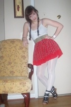 Old Navy shirt - skirt - belt - tights - urban original shoes