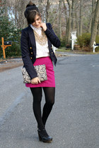 Express skirt - Forever21 shoes - H&M blazer - Secondhand shirt - Old Navy bag