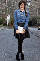 Forever 21 skirt - Bakers shoes - Gap shirt - Stephanie Johnson bag