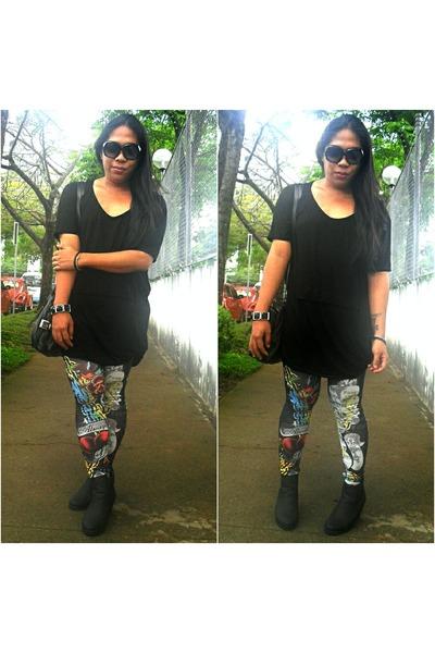 thrifted leggings - renato angi bag