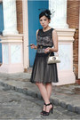 Black-mango-dress-gold-aranaz-bag-black-mango-heels