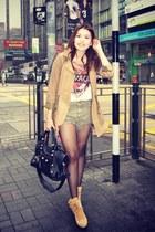 camel Zara jacket - white Zara shirt - black rgh balenciaga bag