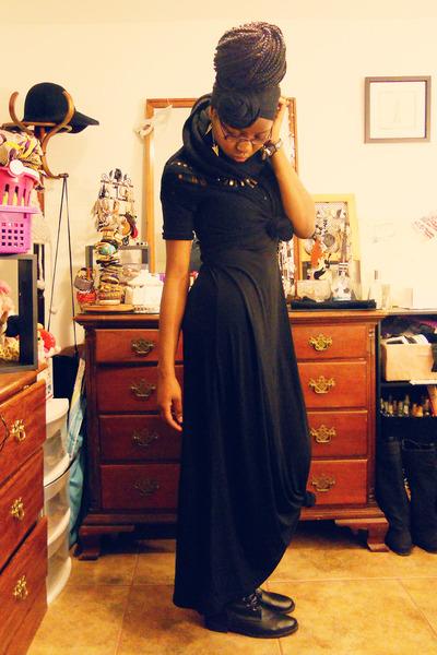 Black Maxi Skirt H Amp M Dresses Combat Boots H Amp M Boots