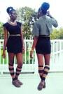 Oxford-forever-21-shoes-black-little-black-forever-21-dress
