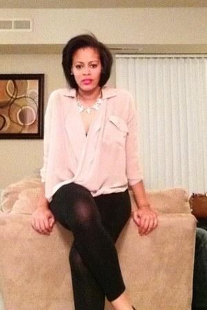 leggings - blouse - H&M necklace