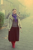 Mexx boots - Bershka coat - Zara skirt