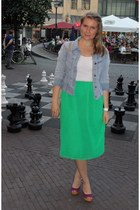 Vero Moda skirt - La Strada shoes - vintage jacket