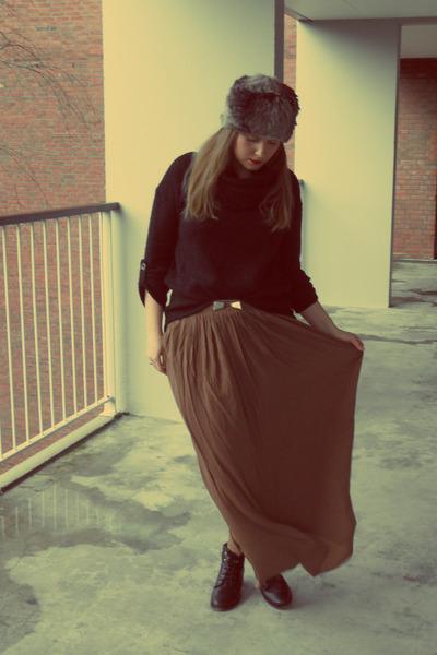 Bershka skirt - new look hat - Vero Moda jumper