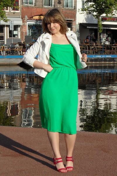 Green Vero Moda Dresses White Cool Cat Jackets Hot Pink Zara