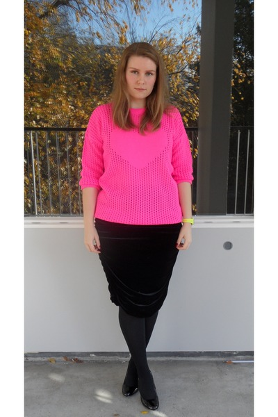 Primark jumper - H&M skirt - River Island watch