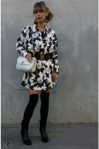 vintage chanel dress - black vintage chanel belt - black American Apparel stocki
