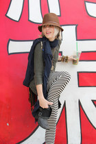 france Jeffrey Campbell boots - Bebe hat - cable kint asos sweater - slouch LnA